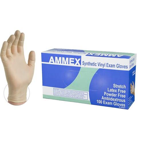 Ivory Stretch Synthetic Vinyl Glove, Medium