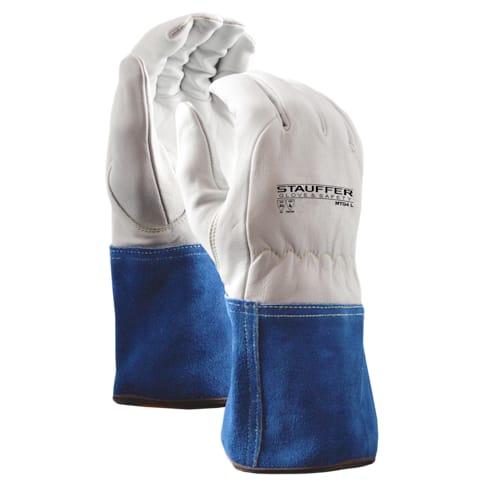 Goatskin MIG/TIG Welders Gloves with Kevlar Liner, Gauntlet Cuff, A2