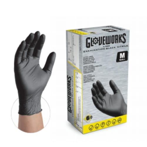 Gloveworks Black Exam Nitrile Gloves