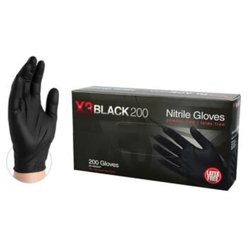 X3 Black 200 Industrial Grade Nitrile Gloves