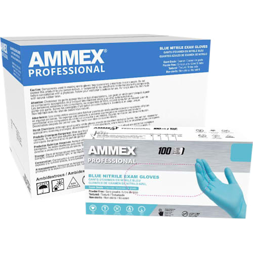 Blue Nitrile Exam Latex Free Disposable Gloves