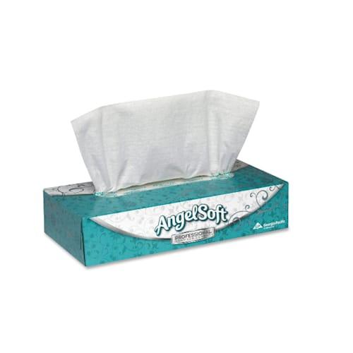Premium Facial Tissues, Angel Soft, 100 per box, 30 boxes per case
