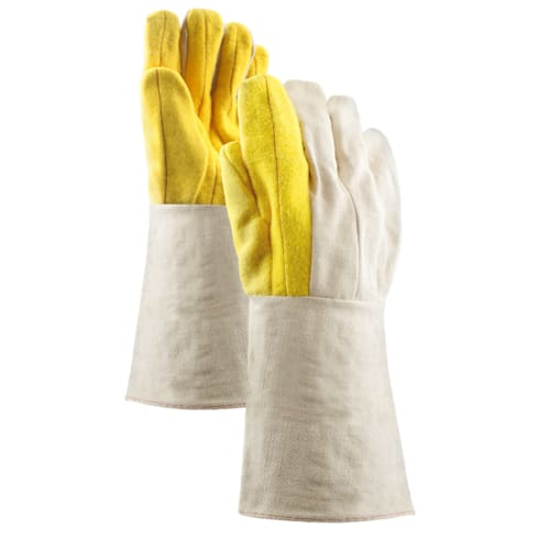 """20 oz. Yelllow 100% Cotton  Chore Gloves with 10"""" Gauntlet Cuff"""