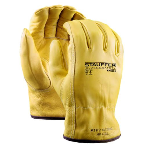 Cowhide Drivers Gloves with Kevlar Lining, Keystone Thumb