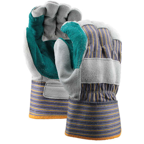 Double Leather Palm Gloves with Safety Cuff, Select Shoulder