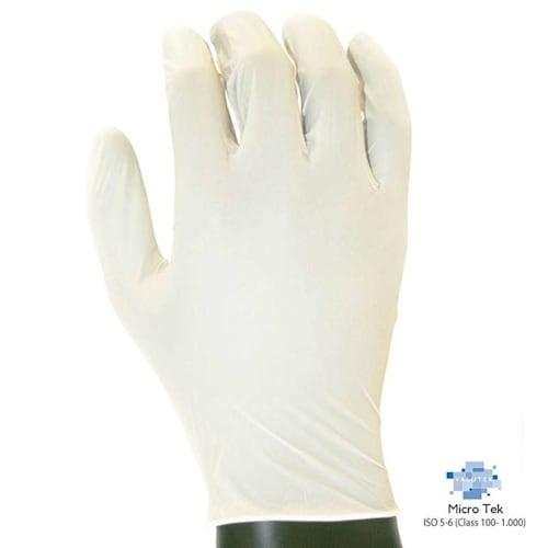 "Ultra-Thin Nitrile Cleanroom Gloves, Powder-Free 9.5"" Length"