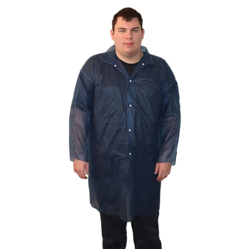 Blue Polypropylene lab coat