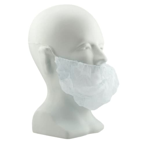 """White 21"""" Polypropylene Beard Cover"""