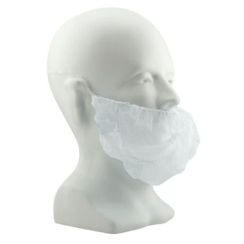 """White 18"""" Polypropylene Beard Cover"""