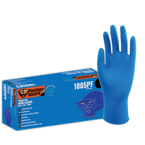 Panther-Guard Powder-Free Nitrile Disposable Gloves, Heavyweight