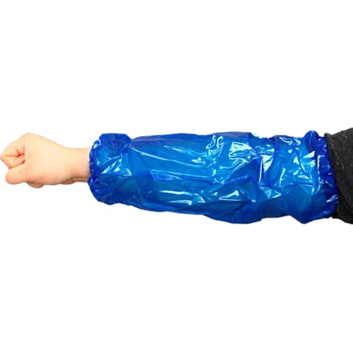 """Blue 18"""" Disposable 6-mil MVA Sleeves - (Case of 1,000)"""