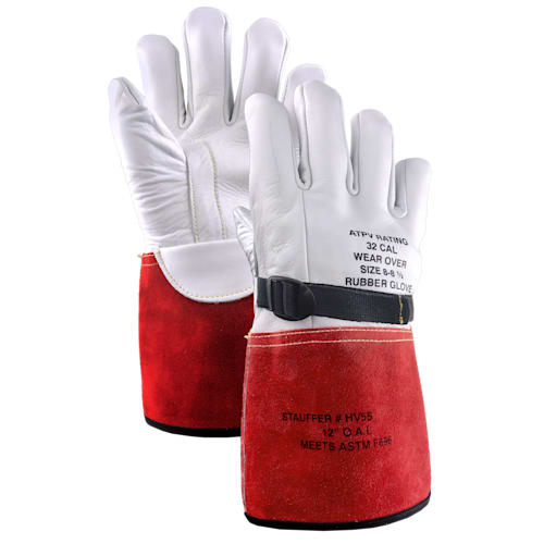 High Voltage Cowhide Electrical Glove Protectors