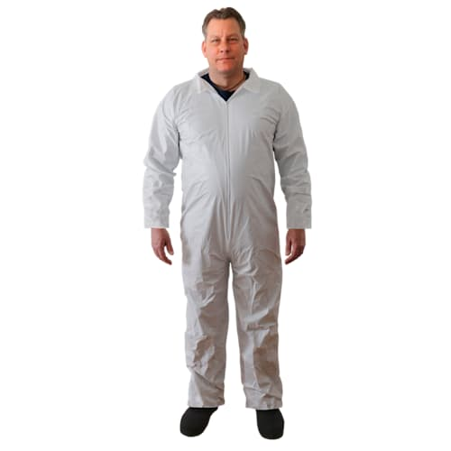 White Microporous Coveralls