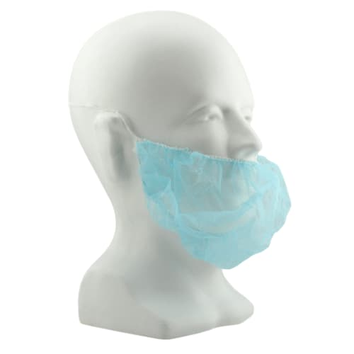 "Blue 18"" Polypropylene Beard Cover"