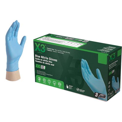 X3 Industrial Grade Nitrile Gloves