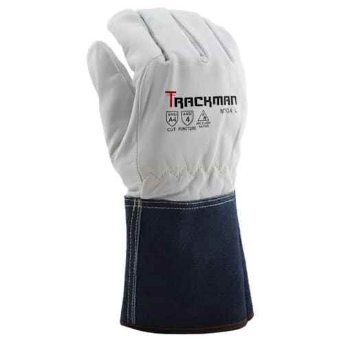 Trackman™ Goatskin MIG/TIG Climbers Gloves with Kevlar Liner, Gauntlet Cuff, A4
