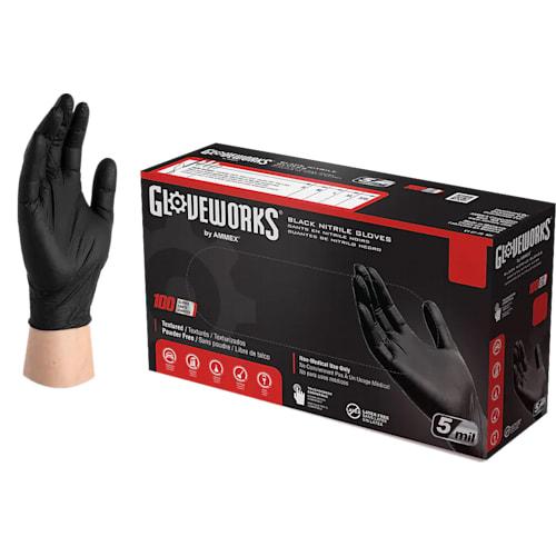 GlovePlus Industrial Grade Black Nitrile Gloves