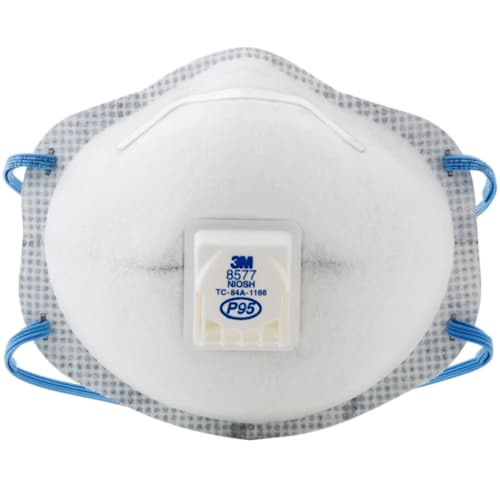 Particulate Respirator 8577, P95 with Nuisance Level* Organic Vapor Relief