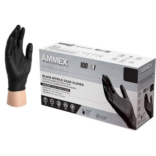 Exam Grade Black Nitrile Gloves