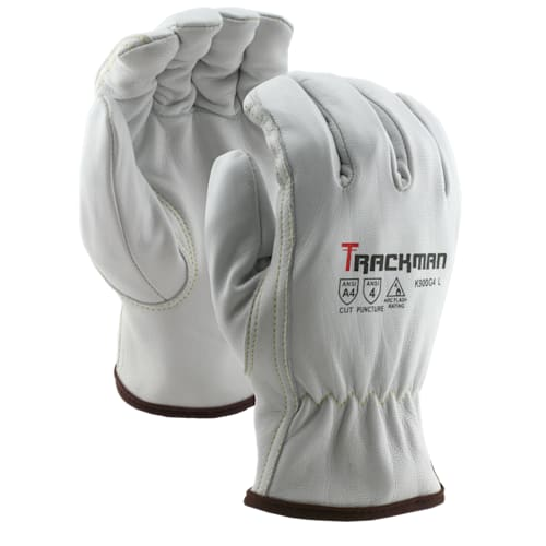 Trackman™ Goatskin Ground Gloves with Aramid Blend Liner, Cut Level A4