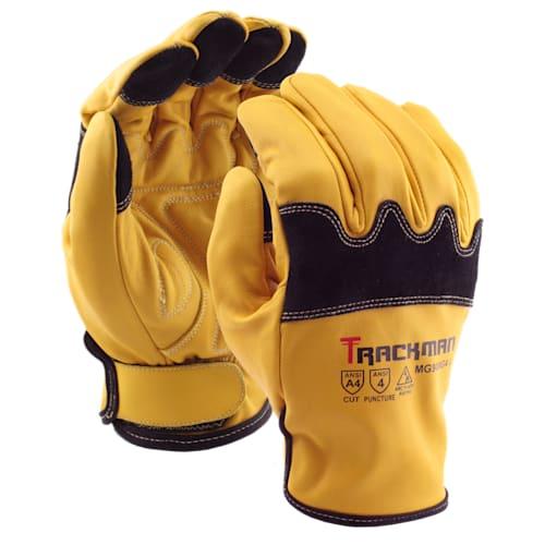 Trackman™ Goatskin Mechanic Gloves with Aramid Blend Liner, Cut Level A4