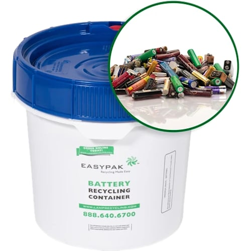 EasyPak Battery Recycling Container