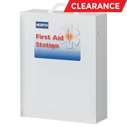 Industrial Empty First Aid Cabinet, 17 in W X 22 in L X 6 in H