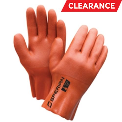 Powercoat Double-Dipped Chemical Resistant Gloves, Large, Orange