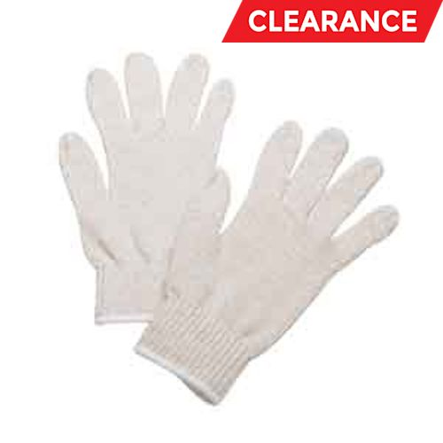 Ambidextrous General Purpose Gloves, Ladies, Cotton/Polyester, Natural
