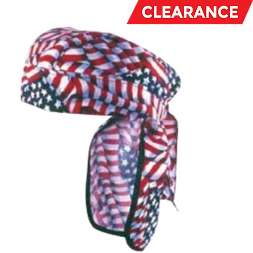 Supercool Stars And Stripes Cooling Doo-Rag Sunshield, Blue/Red/White