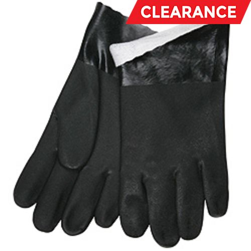Economy Double-Dipped Black PVC Gloves