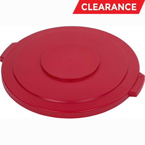 LID,FLAT ROUND RED 44 GALLON