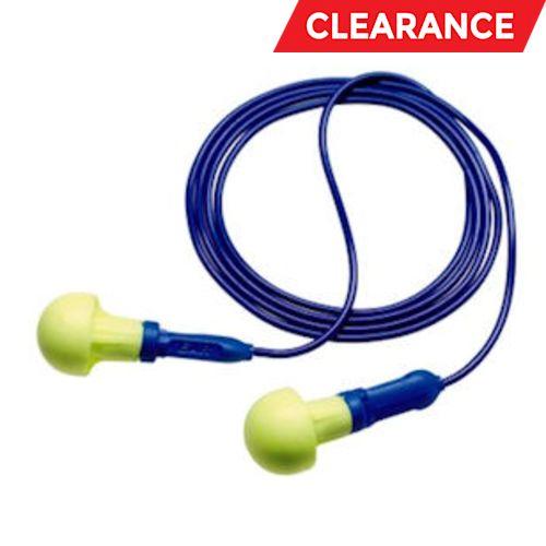 E-A-R Push-Ins Earplugs 318-3000, Metal Detectable, Corded