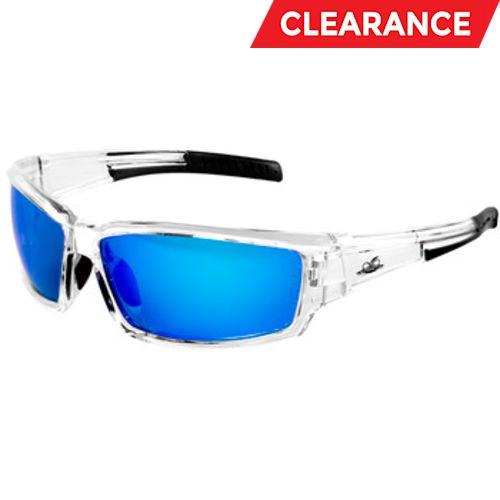 Maki Blue Mirror Clear Frame Spectacles