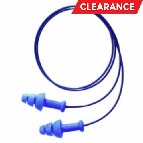 Howard Leight SmartFit Detectable Ear Plug, Universal, 25 dB, 3 Flange, Corded, Blue