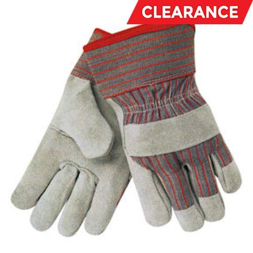 Split Leather Palm Gloves with Denim Cuffs