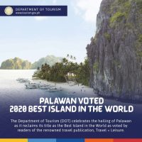 Palawan reclaims distinction as 'Best Island in the World'