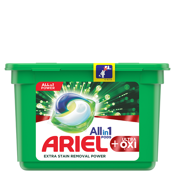 Kapsle Ariel All-in-1 Oxi Stain Removers Effect