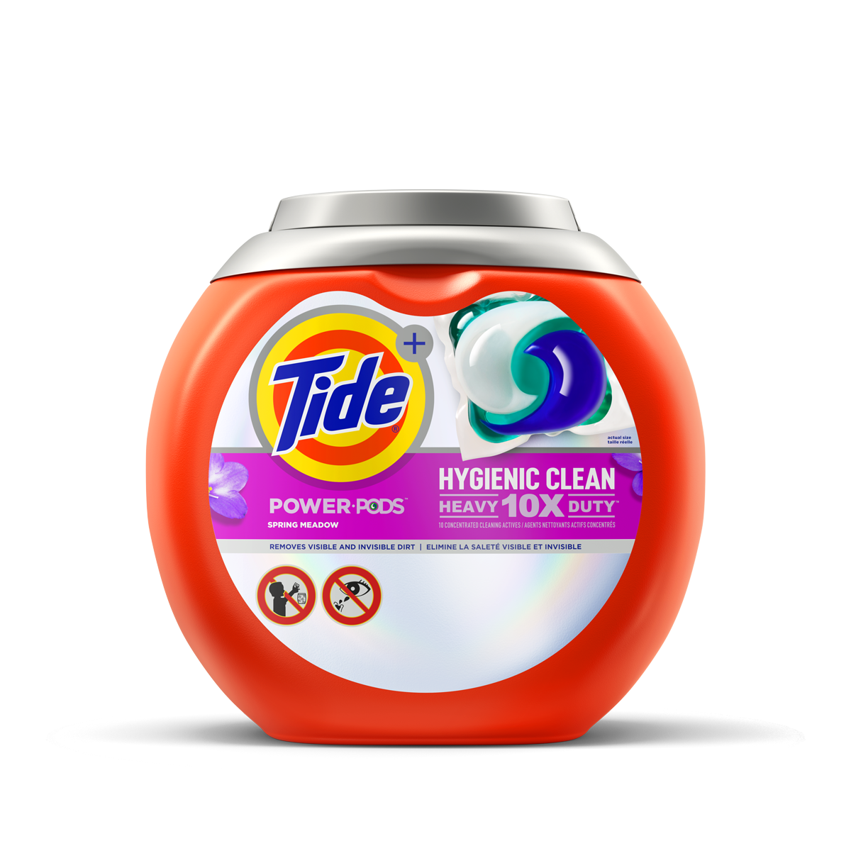 Tide Hygienic Clean Heavy Duty 10x Power PODS Detergent Spring Meadow Scent