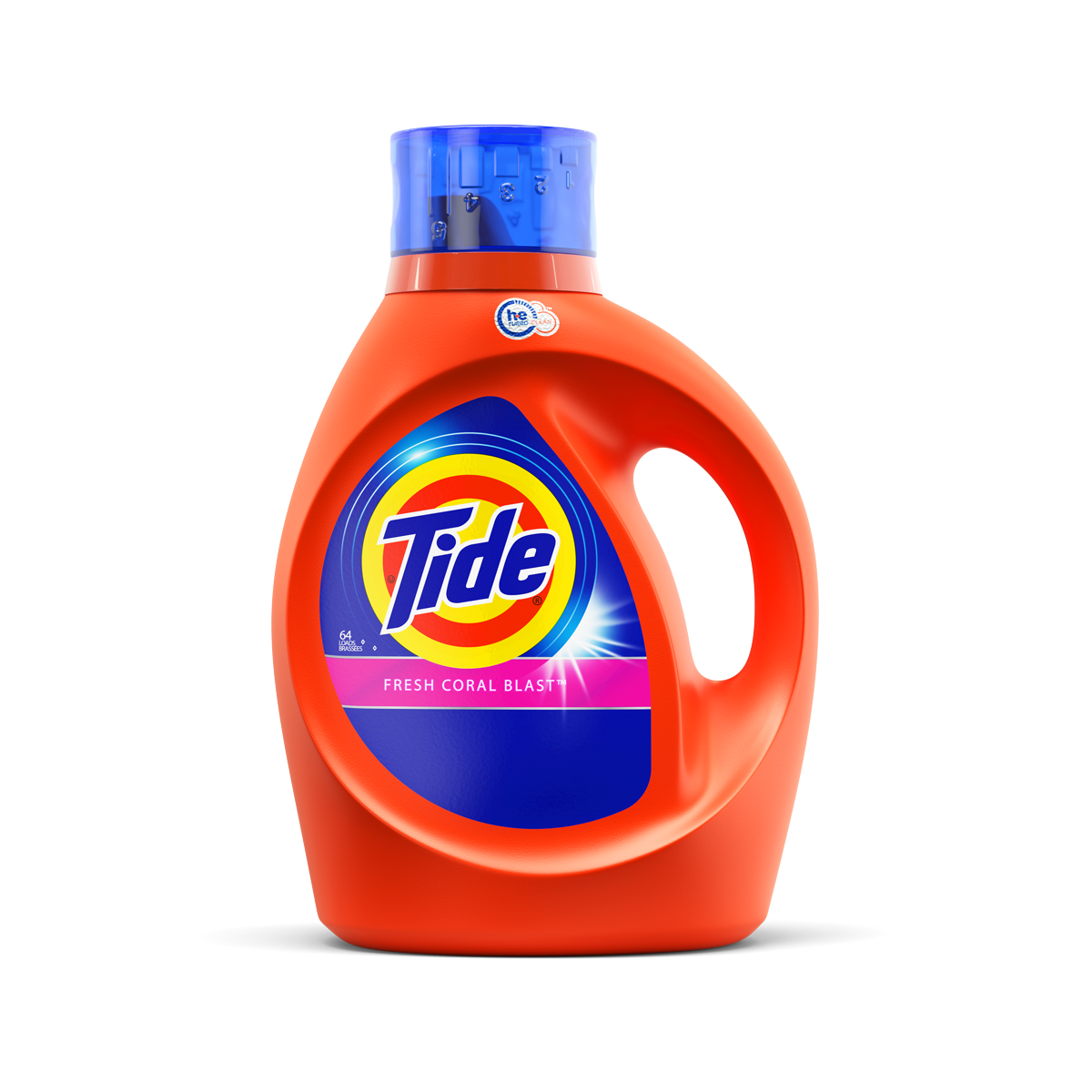 Tide Fresh Coral Blast Scent High Efficiency Liquid Laundry Detergent