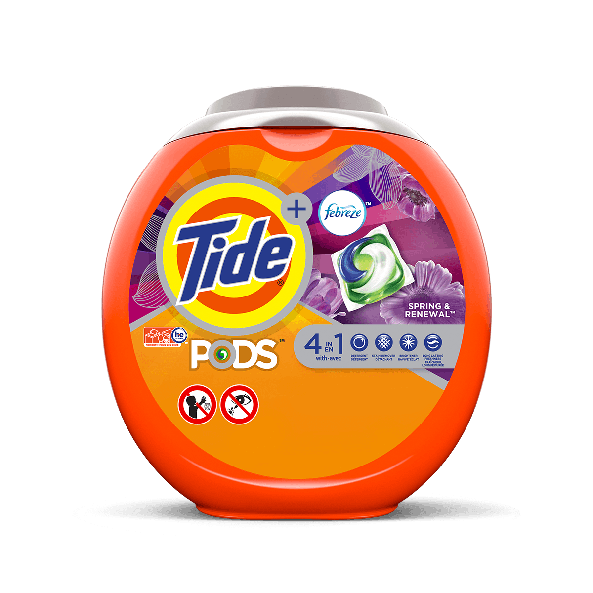 Tide PODS® Plus Febreze™ 4in1 Spring and Renewal Laundry Detergent