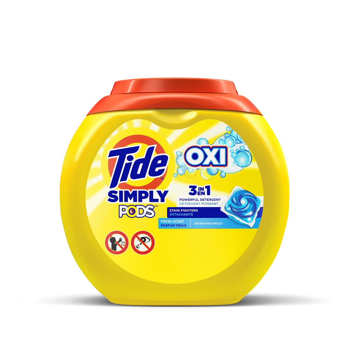 Tide Simply PODS® Plus OXI Liquid Laundry Detergent Pacs