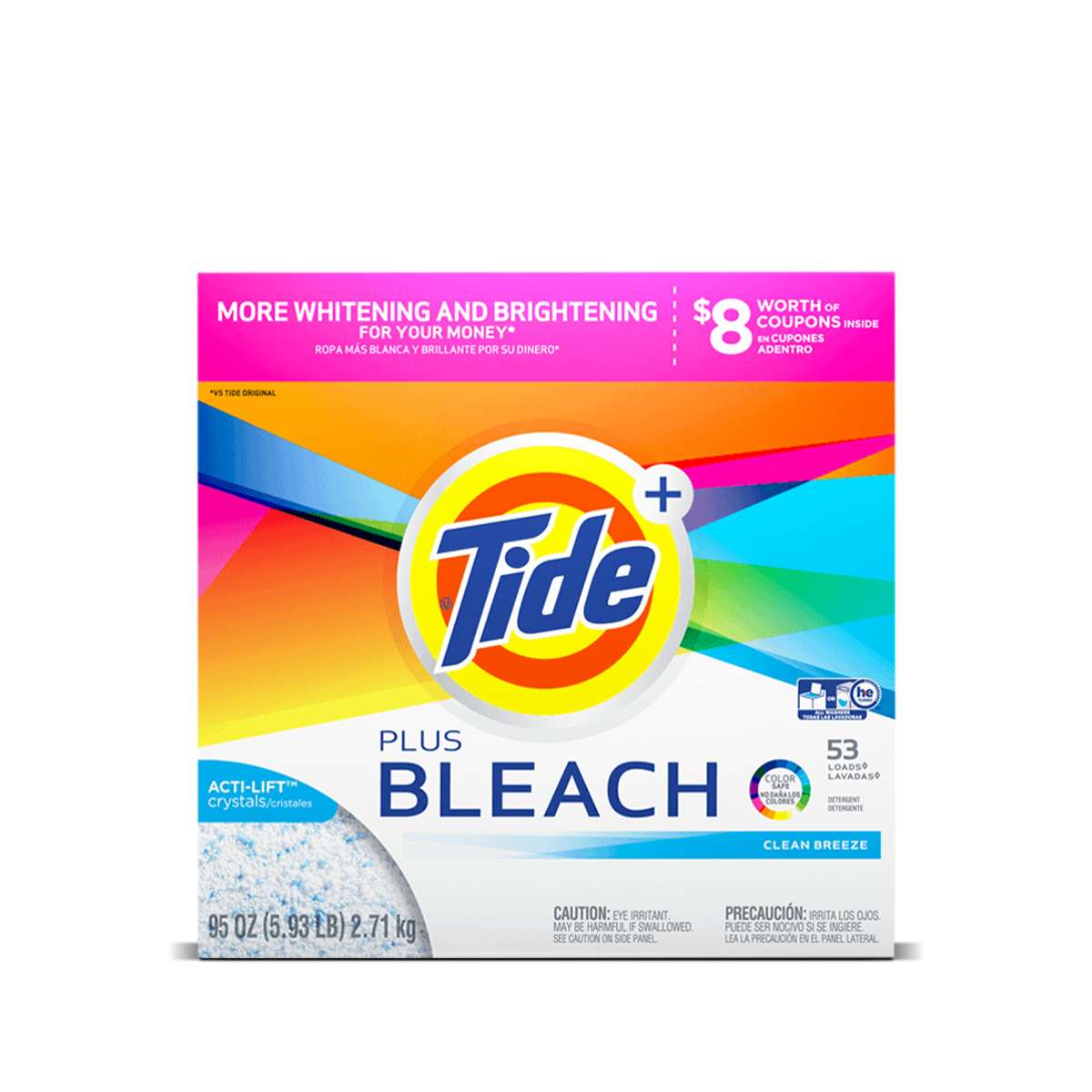 Tide Plus Bleach Powder Laundry Detergent