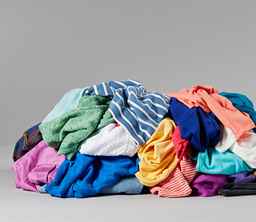 A pile of colored garments
