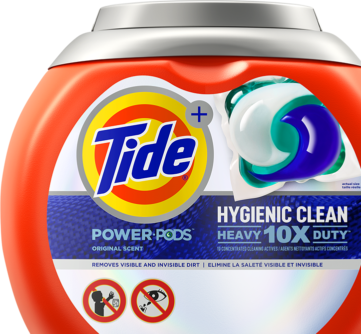 New Tide Hygienic Clean is designed to remove both visible and invisible dirt