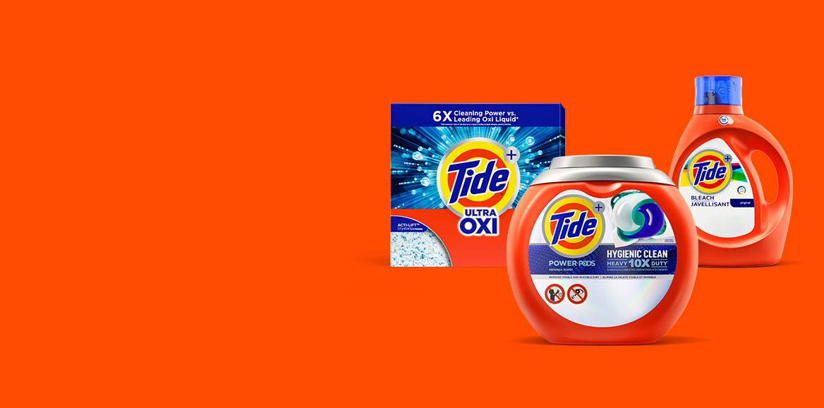 Tide liquid, PODS and powder detergents