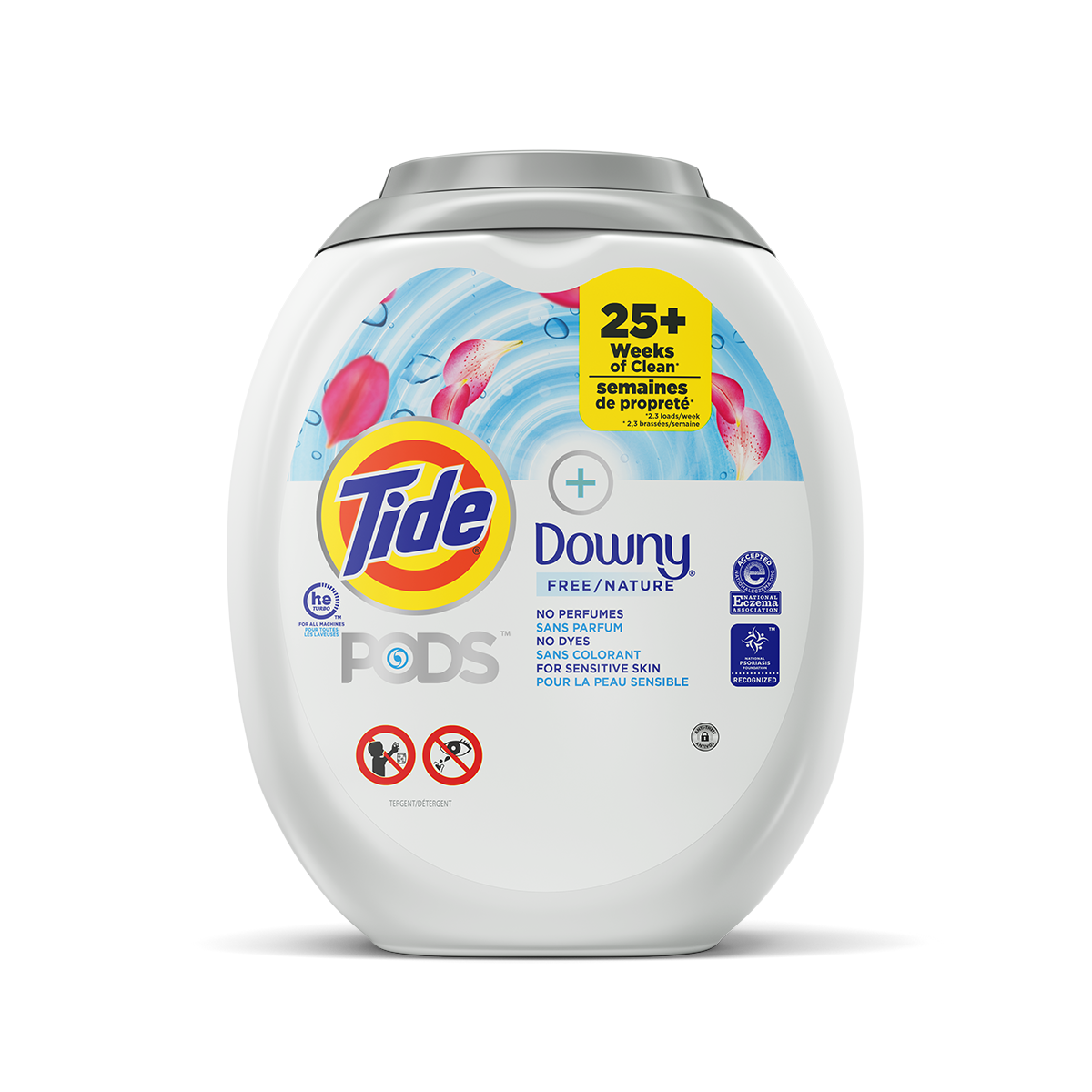 Tide PODS® Plus Downy Free Laundry Detergent Pacs