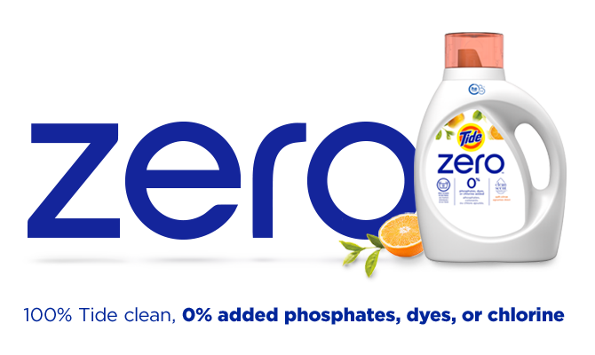 Tide Zero Soft Citrus Liquid Laundry Detergent provides a Tide-clean without the use of phosphates,dyes or chlorine