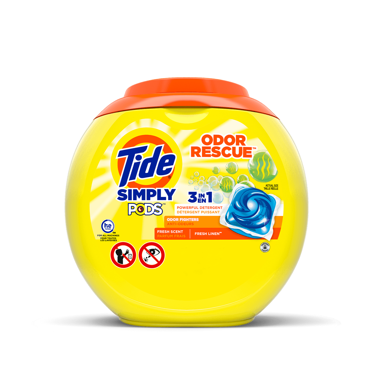 Clean just got simpler with Tide Simply PODS® Odor Rescue Laundry Detergent