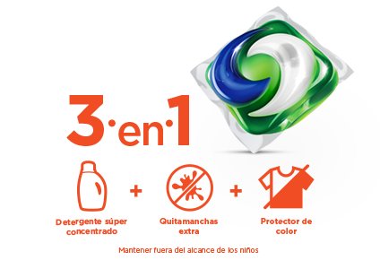 3 in 1 super concentrated detergent plus extra stain remover plus extra color protector